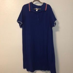 Blue Polo Dress Perfect for a 4th of July Party